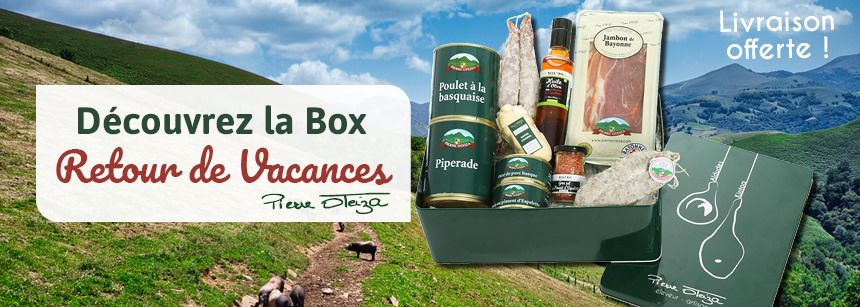 Une box retour de vacances dans le panier = livraison offerte