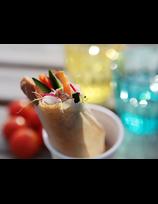 Croustillants de confit de porc basque aux légumes de saison