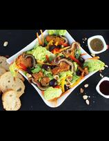 Salade tiède aux oreilles de Porc Basque