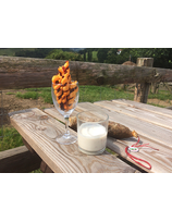Tortillons de chorizo des Aldudes et crème de brebis