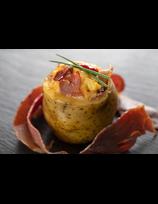 Jambon poêlé et pomme de terre farcie