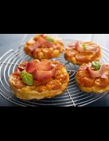 Tarte Tatin aux tomates cerises et au Jambon de la Vallée des Aldudes