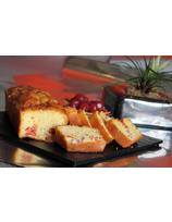 Recette de cake aux talons de jambon, pimientos del piquillo et fromage de brebis