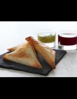 Samoussas aux manchons de canard et ses sauces Pika Gorri et Berdea