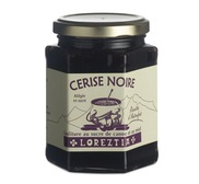 Black cherry marmelade with cane sugar and honey 300g (jar)