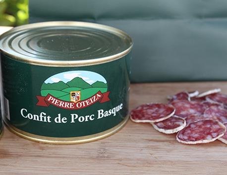 Basque pork confit 390g (tin)