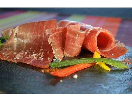 Tranches de Jambon du Kintoa AOC (issu du porc de race basque)