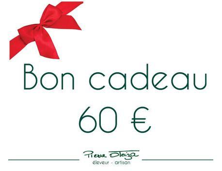 Bon cadeau 60 €