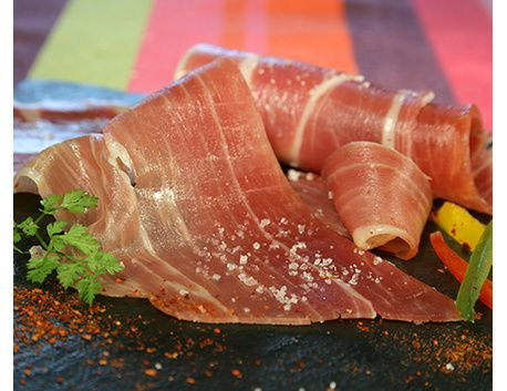 Tranches de Jambon de Kintoa AOP (issu du porc de race basque)