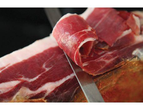 1/4 Jambon du Kintoa AOP (issu du porc de race basque) désossé s/vide