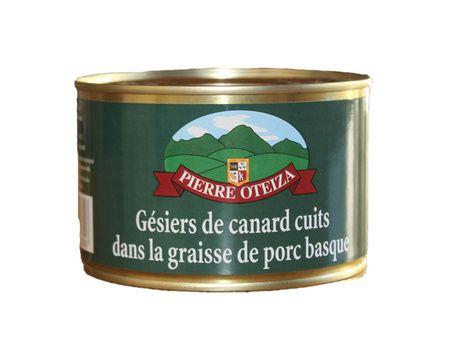 Gésiers de canard cuits dans la graisse de porc basque