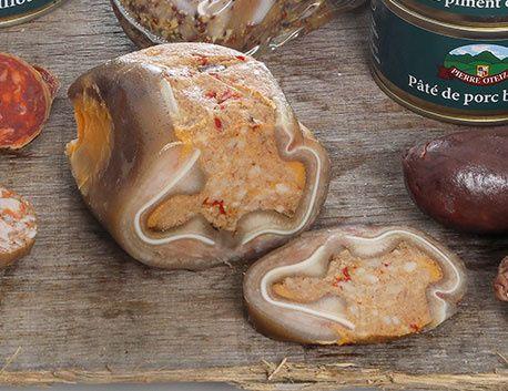 Oreille de Porc Basque farcie sous vide