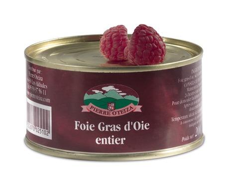 Foie gras d'oie entier avec oies des Landes