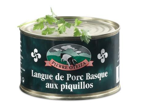 Basque pork tongue with Navarra sweet pepper 380g (tin)