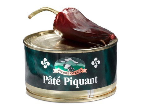 "Pâté  made with the famous ""Espelette red pepper"""