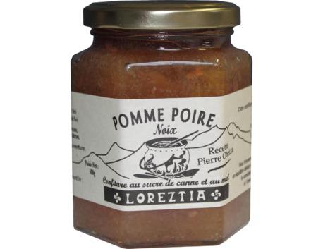 Confiture pomme poire noix au sucre de canne et au miel