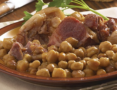 Basque pork knuckle cooked with chickpeas 780g (jar)