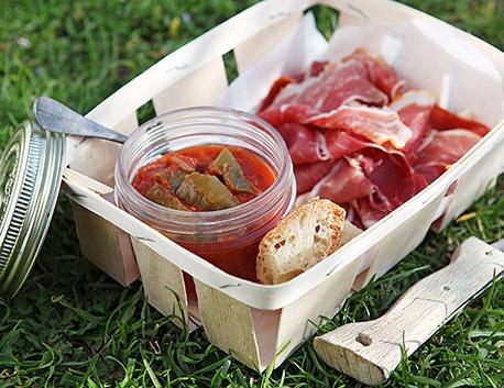 Piperade du Pays Basque 800g à base de tomates, piment doux, oignons, ail relevé