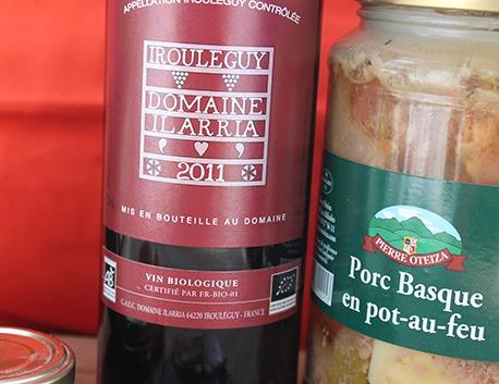 Vin rouge Irouleguy AOC Domaine Ilarria BIO