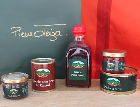 Panier garni avec produits du Pays Basque Sorogain