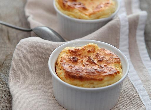 Soufflé au fromage de brebis