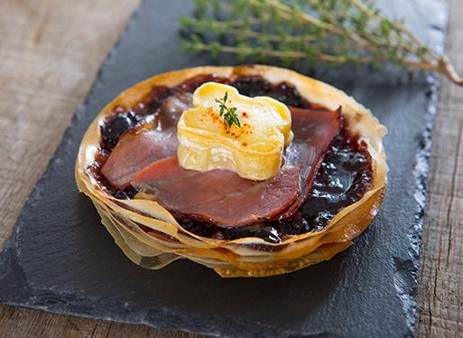 Croustillant jambon - bûchette - confiture