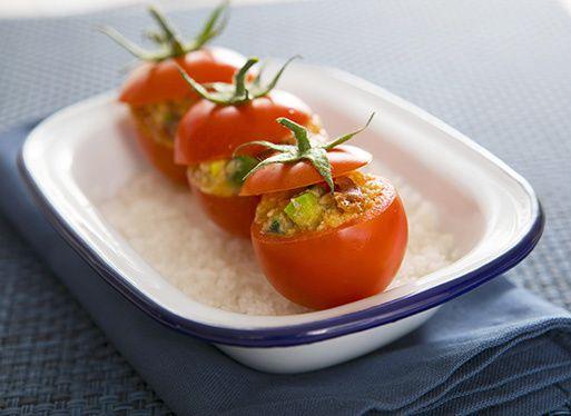 Tomates cocktails aux rillettes de truite de la Nive