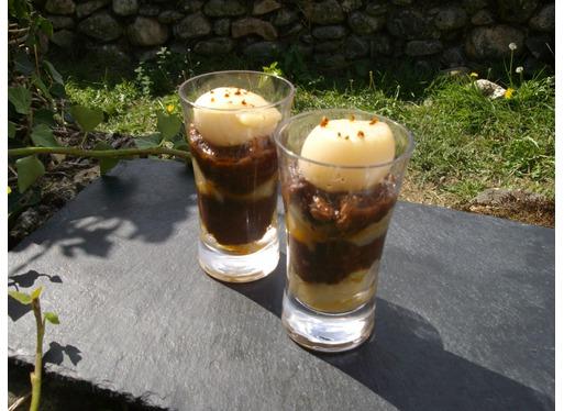 Recette de verrine de boudin basque, pommes et Saint Jacques