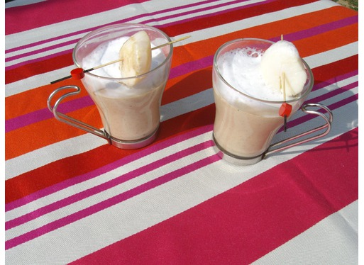 """Recette de verrines façon """"cappuccino"""" châtaigne et noix de St Jacques"""