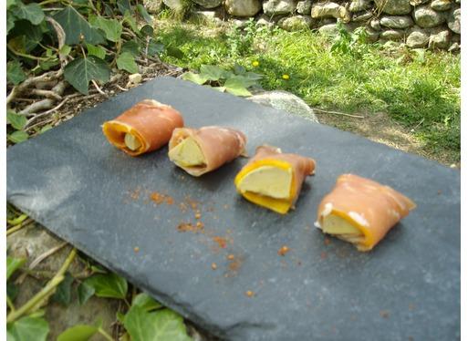 Recette de roulés de jambon au foie gras