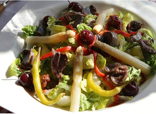 Salade estivale de gésiers de canard