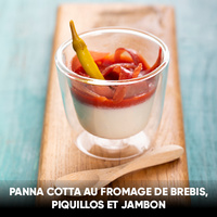 recette panna cotta jambon fromage piquillos pierre oteiza